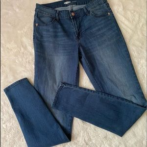 Old Navy Super Skinny Mid Rise Denim Jeans sz 4 L
